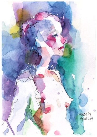 """watercolor, pen on paper 