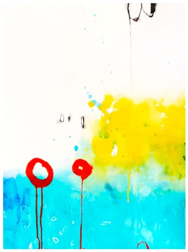 """watercolor, pencil on paper   22"""" x 30""""   $795"""