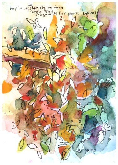 watercolor, pen on paper   SOLD