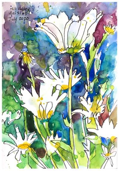 "watercolor, pen on paper | 10"" x 7"" | $90"