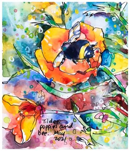 Tilden Poppy Bee