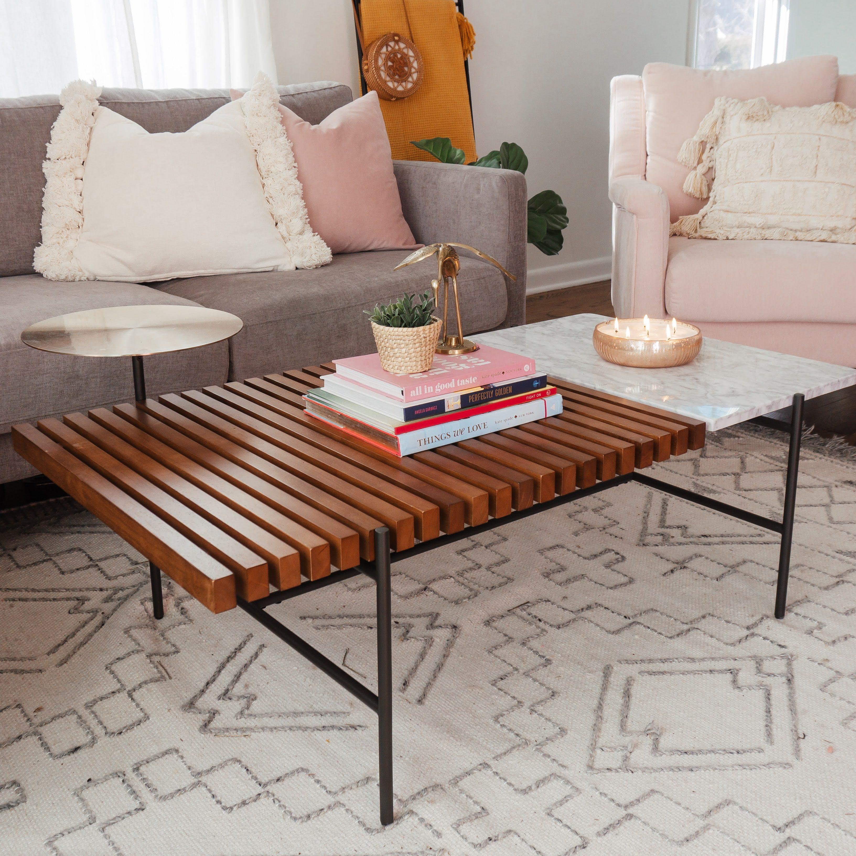 boho mid-century modern living room