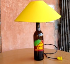 Lamps created with old bottles