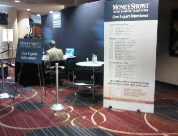 MoneyShow Interview Booth