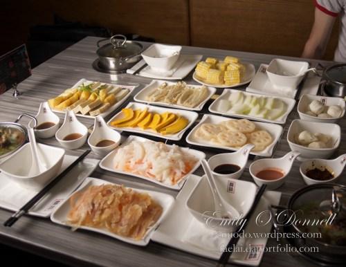 Veggies, Fish & Dumplings for Hot Pot