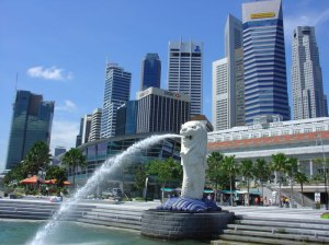 singapore fountain picture