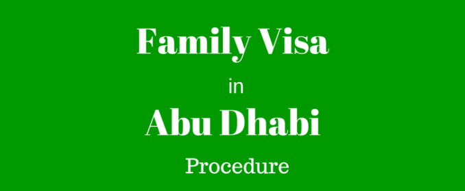 how to apply for family visa in abu dhabi documents required