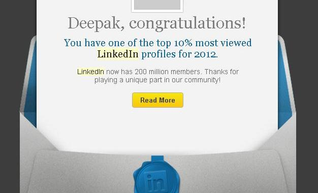 LinkedIn Top 10% – My name is there!