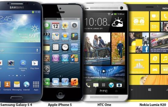 comparison-samsung s4-iphone 5-htc one-lumia 920