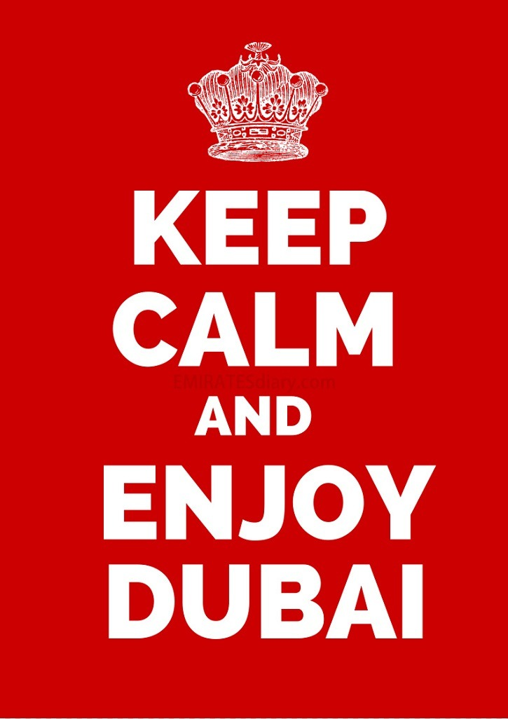 keep calm dubai poster