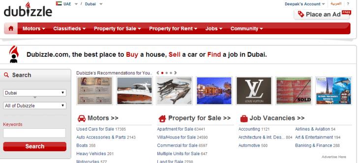 dubizzle-homepage