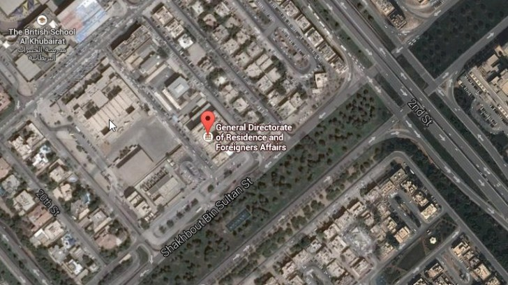 abu dhabi immigration location