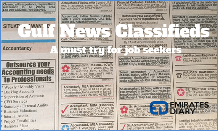 Gulf News Classifieds - A good strategy for job hunting!