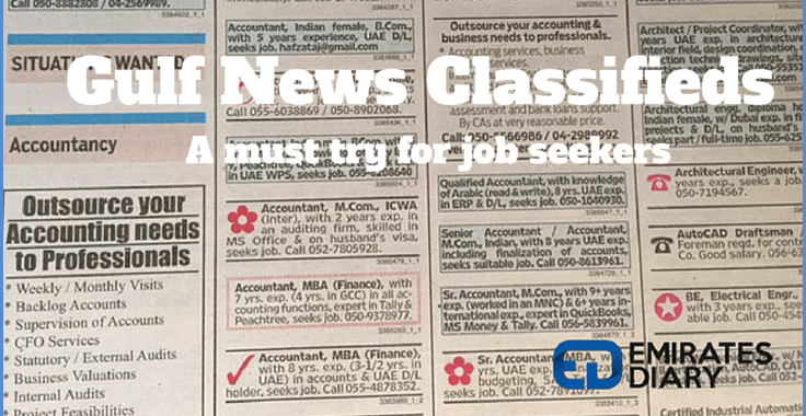 Gulf News Classifieds – A good strategy for job hunting!