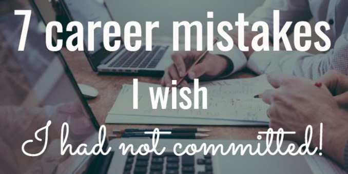 career mistakes to avoid