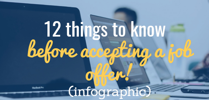 12 things to know before you accept a job offer! (infographic)
