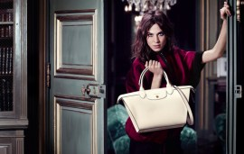 Alexa Chung And Le Pliage Heritage Star For Longchamp Autumn 2014