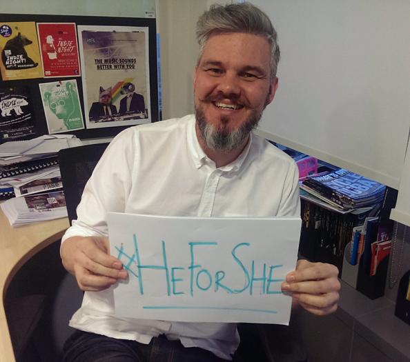 Mark Evans, Group Editor (leisure & Entertainment titles) HeForShe