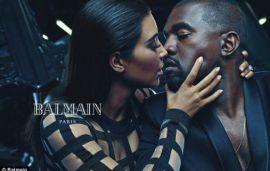 Kim Kardashian & Kanye West In Balmian Ad