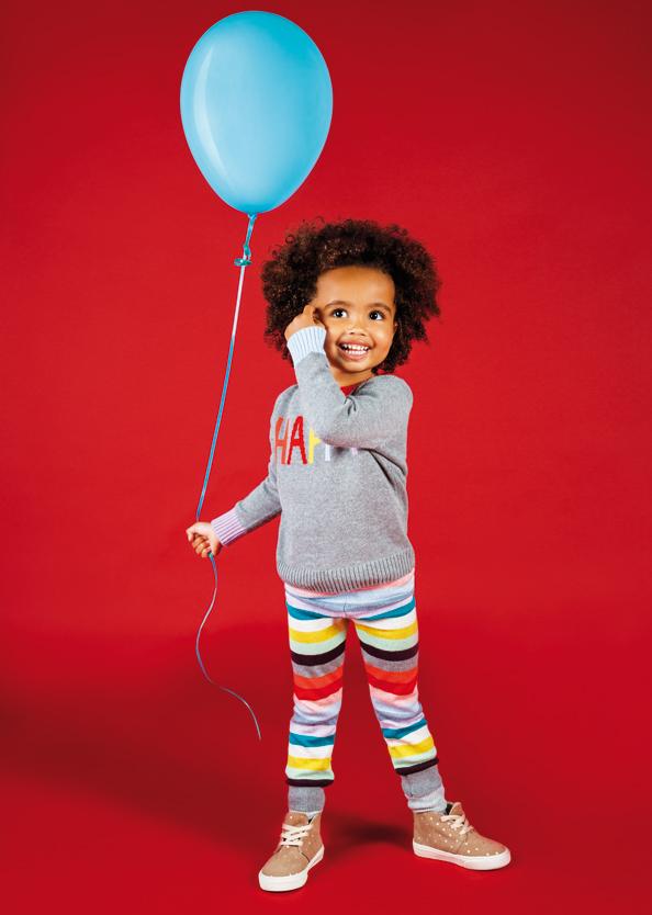 Persephone wears: Crazy Intarsia Sweater, Crazy Stripe leggings, Desert Sneakers