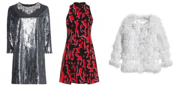 Left to right: Dress Dhs10,600 Dolce & Gabbana; Dress Dhs8,555 Proenza Schouler at Boutique 1;  Coat Dhs500 H&M