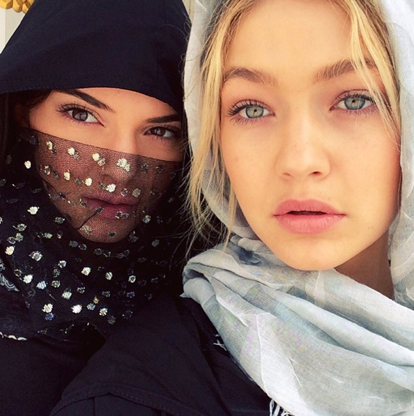 Gigi Hadid posted a selfie of herself and Kendall Jenner.