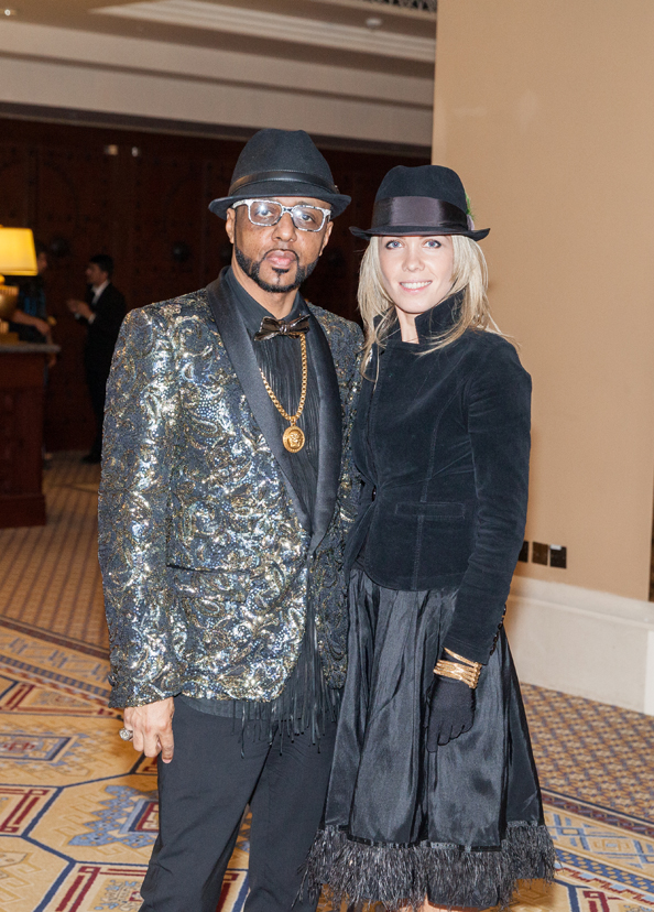 Sheikh Bin Baker and Natalia Sokolova, Harvery Nichols Fashion Show - Madinat Area - 19th February 2015