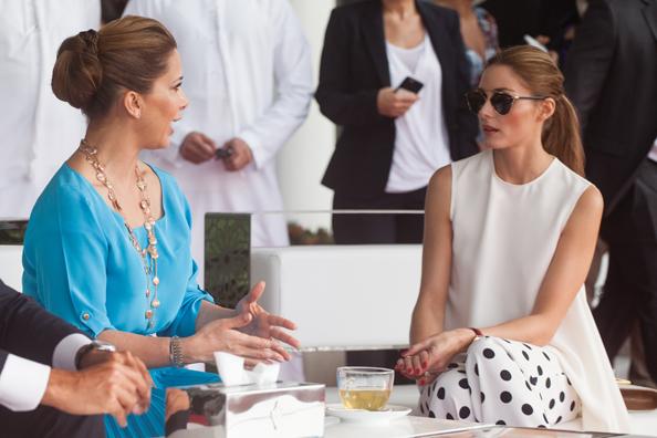 HRH Princess Haya Bint Al Hussein with Olivia Palermo