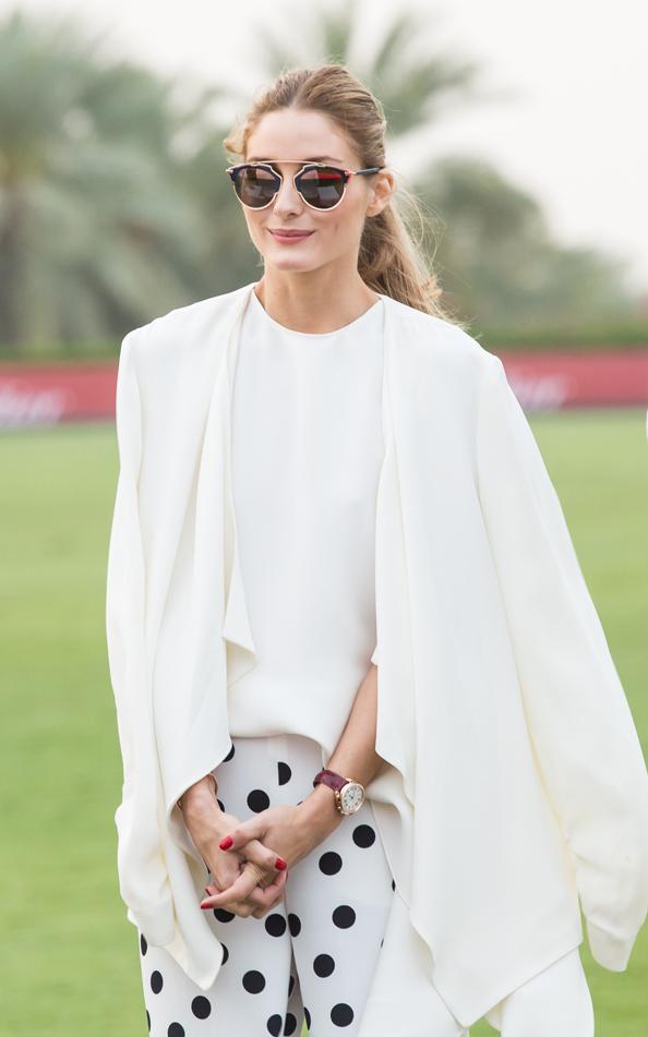 Olivia Palermo enjoying the Cartier Polo