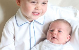 First Pictures of Prince George and Princess Charlotte