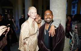 Kanye West & Tilda Swinton Party At mytheresa.com x Haider Ackermann Celebrity Dinner