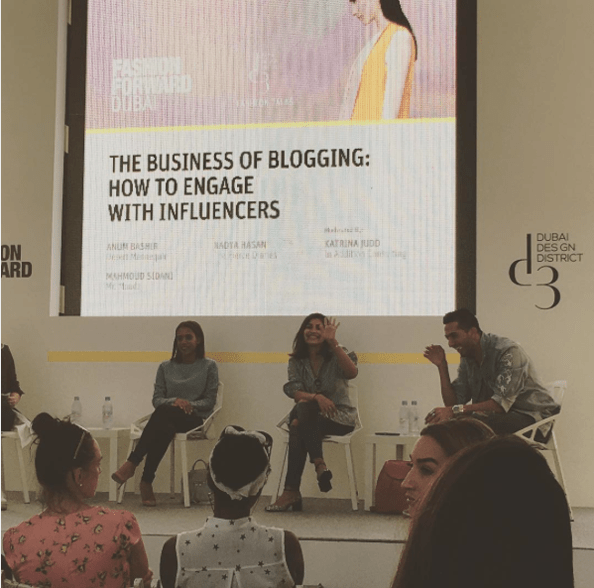 Nadya, Anum and Mahmoud were all part of a panel for a Fashion Forward Season Six panel discussing The Business of Blogging: How To Engage With Influencers