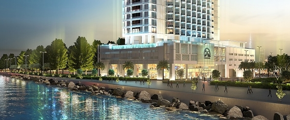 A rendering of the highly-anticipated Paramount hotel