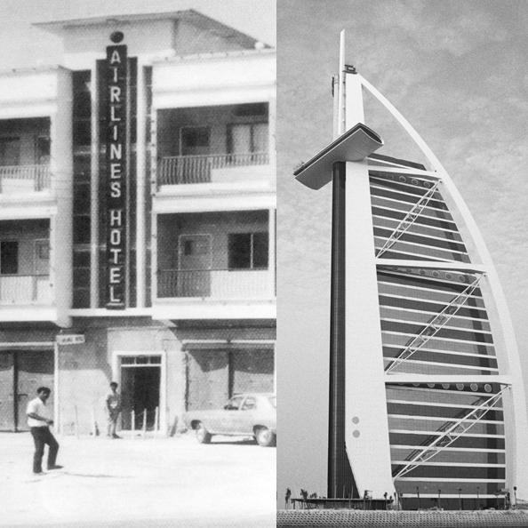 Airlines hotel Dubai 1962 old dubai