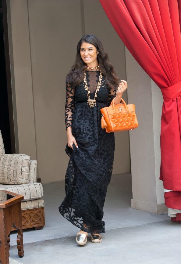 Sofia Al Asfoor, Handbag Designer Wears: Burberry Prorsum Ramadan Exclusive