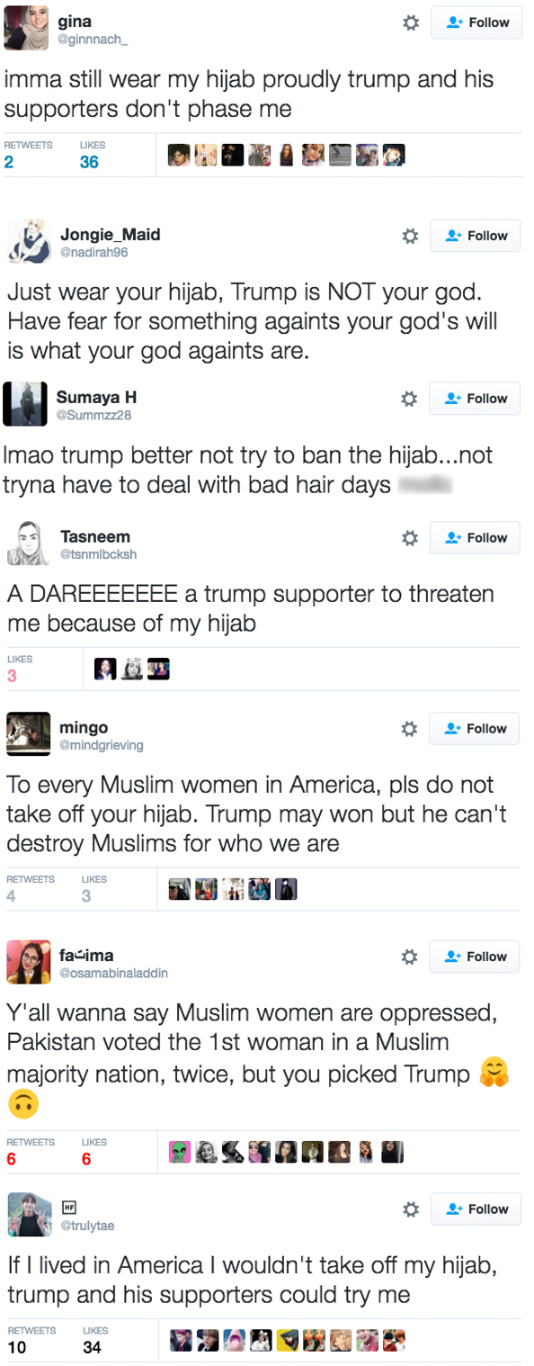 trump reaction tweets