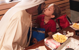 Sheikh Mohammed And His Super-Cute Son Bond Over A Burger And Chips