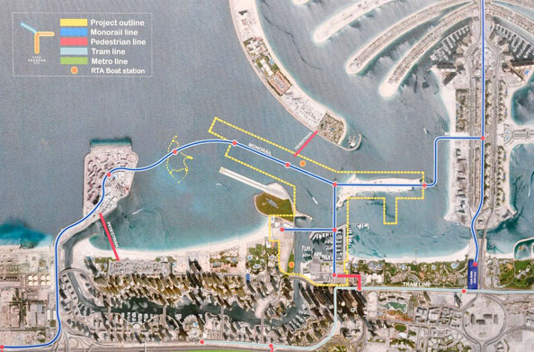 dubai-harbour-map