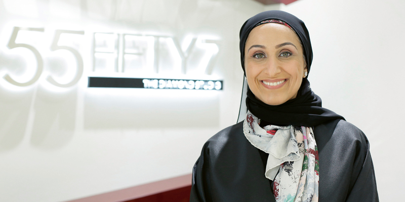 Maryam Hassani, Emirati, Co-Founder and Principal Designer of 55Fifty7Maryam Hassani, Emirati, Co-Founder and Principal Designer of 55Fifty7