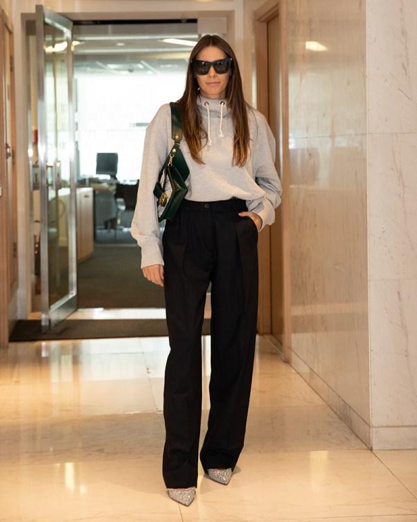Emirates Woman editor wearing office workwear dubai middle east