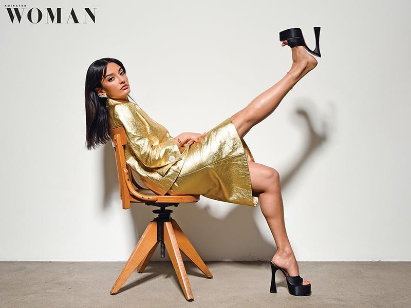 jordanian-shoe-designer-amina-muaddi-cover-emirates-woman-april-2020-interview