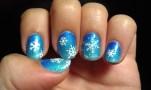Frozen Queen Elsa Snowflake Sparkly Gradient