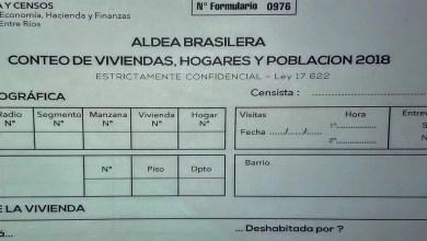 Photo of Este domingo se realizará el Censo de Población en Aldea Brasilera