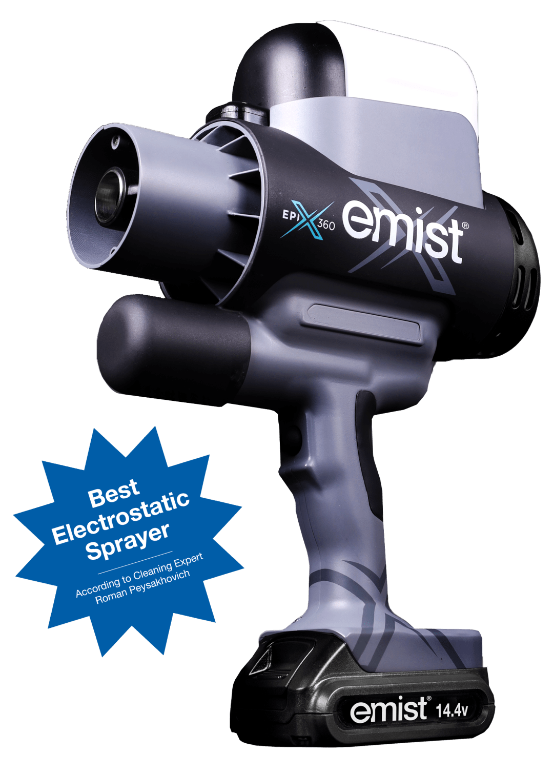 EMist EPIX360 TruElectrostatic™ Disinfectant Sprayer with EPIX Charge Detect™ Technology