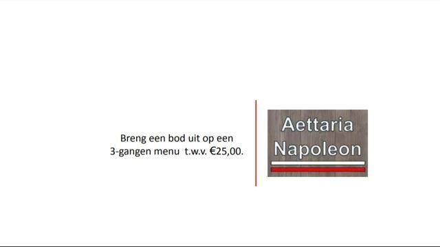 3-Gangen menu Aettaria Napoleon
