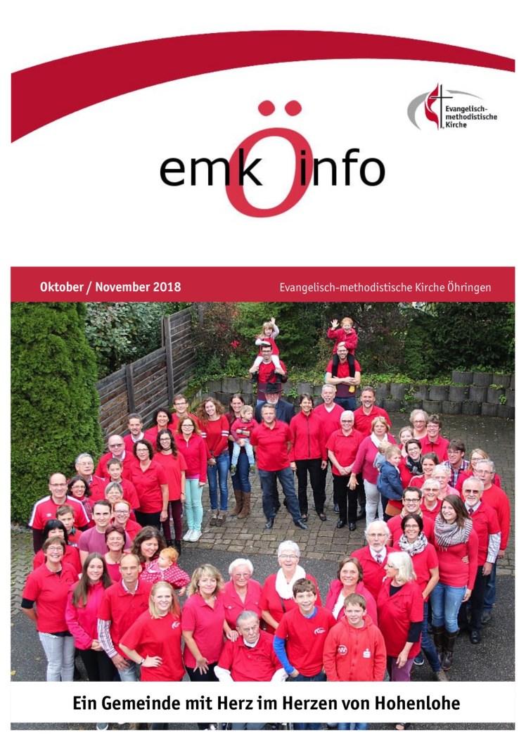 Gemeindebrief 10+11 Öhringen online Titelseite