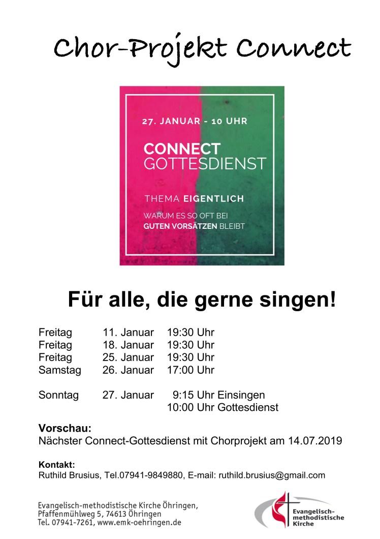Chor-Projekt Connect neu