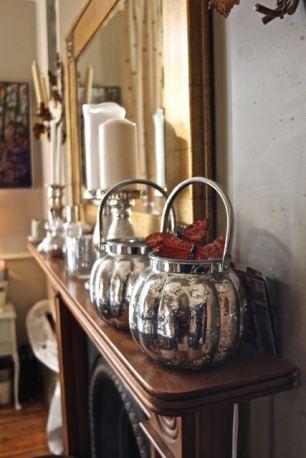Mercury glass pots