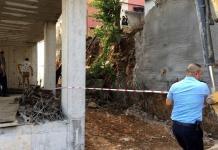istinat duvarı çöken inşaat
