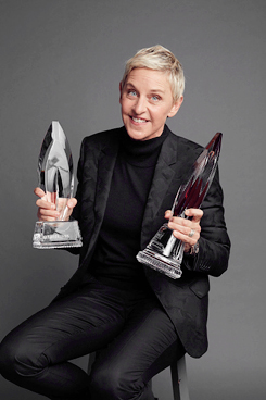 LOS ANGELES, CA - JANUARY 6: Ellen DeGeneres poses for a portrait at the 2016 People's Choice Awards at the Microsoft Theater on January 6, 2016 in Los Angeles, California. (Photo by Smallz & Raskind/Getty Images for The People's Choice Awards)